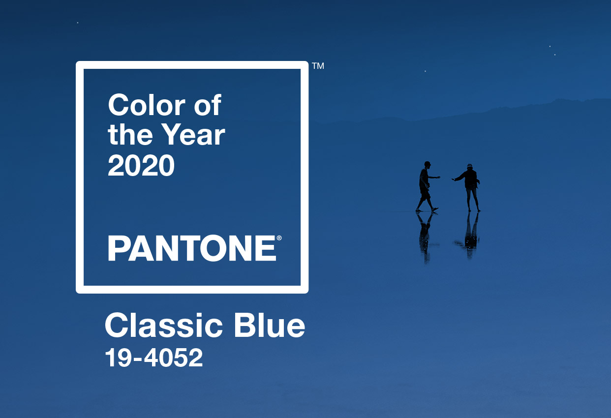 Pantone Classic Blue, colore dell'anno 2020.